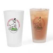 Rocky Mountain Dancin' Dogs Logo Drinking Glass