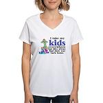 I Take My Kids Everywhere Women's V-Neck T-Shirt