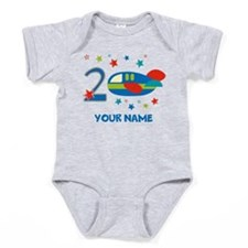2nd Birthday Airplane Baby Bodysuit