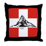 Red zermatt Throw Pillow