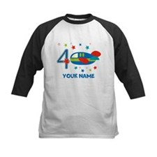 Airplane 4th Birthday Custom Tee