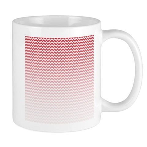 Red Ombre Chevron Mugs