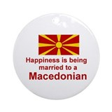 Happily Married To Macedonian Keepsake Ornament
