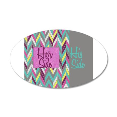 Her Side His Side Chevron Wall Decal