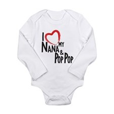 I heart my Nana and Pop Pop Body Suit