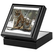 TIGER IN THE SNOW Keepsake Box