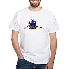 Blue Dragon On Boat T-Shirt