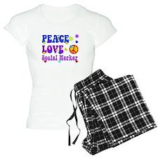 Social worker peace love 3 Pajamas