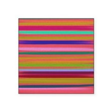 """Painted Wood Effect Square Sticker 3"""" x 3"""""""