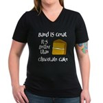 Band Is Great Women's V-Neck Dark T-Shirt