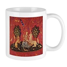 Lady and Unicorn Sight Small Mugs