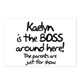 Kaelyn is the Boss Postcards (Package of 8)