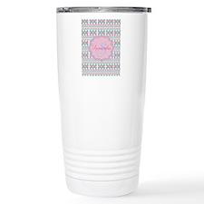 Monogram Tribal Pattern Travel Mug