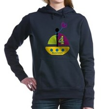 Personalized 4th Birthday Sailboat Hooded Sweatshi