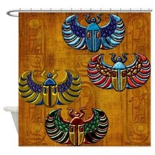 Harvest Moons Scarabs Shower Curtain