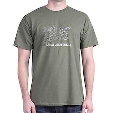 Real Mans Puzzle-Small Block V8 T-Shirt