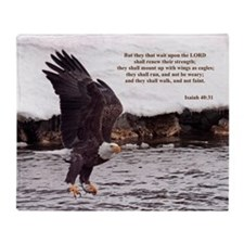 Isaiah 40:31 Winged Eagles Throw Blanket
