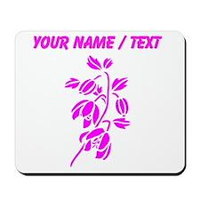 Custom Pink Floral Mousepad