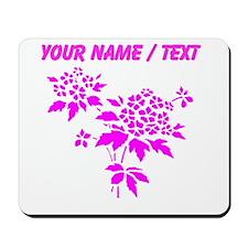 Custom Pink Flowers Mousepad