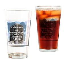 Snowpocalypse1 Drinking Glass