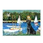 Sailboats & Black Lab Postcards (Package of 8)
