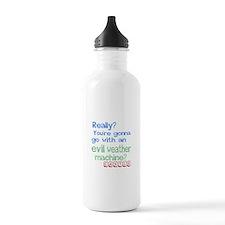 Castle Evil Weather Ma Water Bottle
