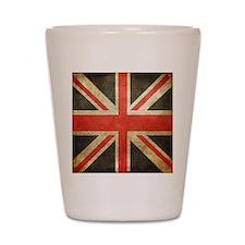 british flag Shot Glass