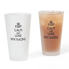 Keep calm and love Bmx Racing Drinking Glass