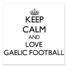 Keep calm and love Gaelic Football Square Car Magn