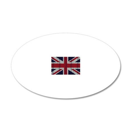 British UK Flag Union Jack G 20x12 Oval Wall Decal