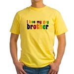 I Love My Gay Brother Yellow T-Shirt
