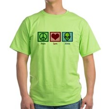 Peace Love Aliens T-Shirt