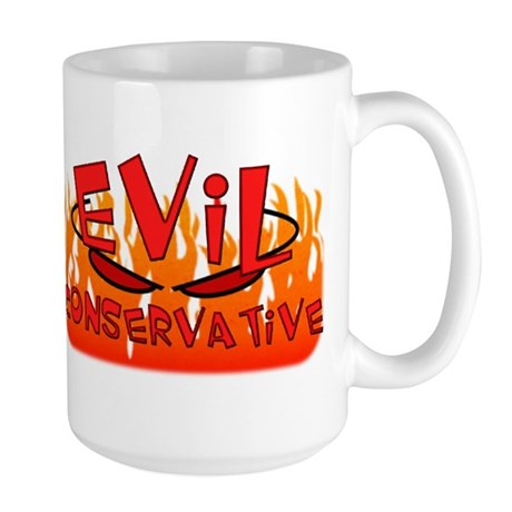 Evil Conservative To Do List Wrap Around Lrg Mug