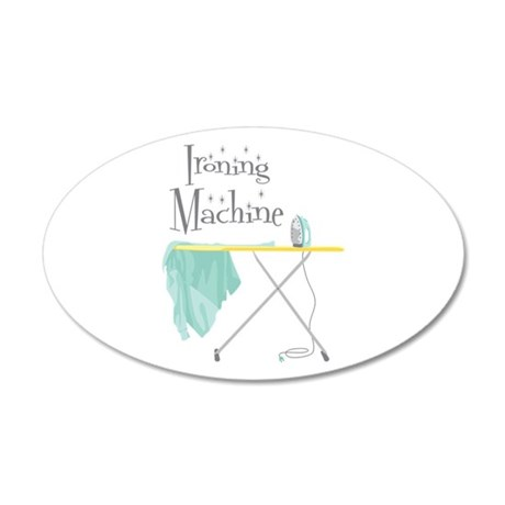 Ironing Machine Wall Decal