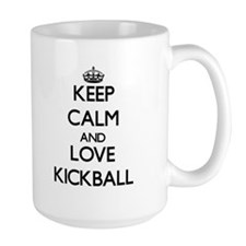 Keep calm and love Kickball Mugs