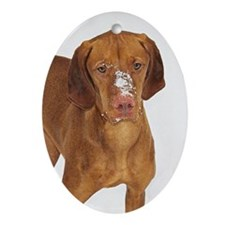 Vizsla Ornament (Oval)