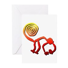 Nazca Monkey (sunset) Greeting Cards (Pk of 10