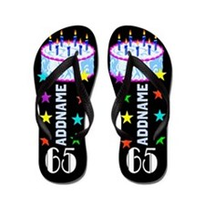Snazzy 65Th Flip Flops