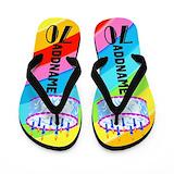 70th birthday Flip Flops