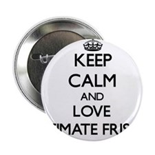 "Keep calm and love Ultimate Frisbee 2.25"" Button"