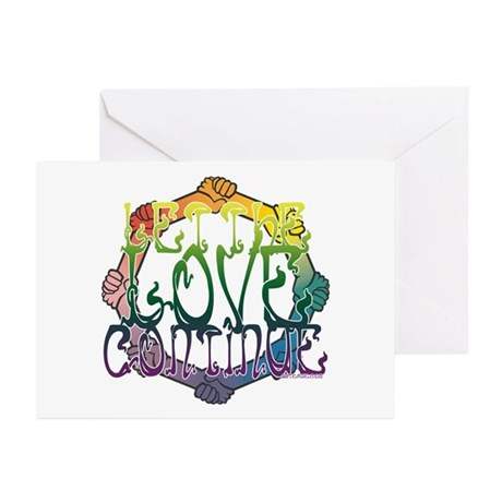 Let the Love Continue Greeting Cards (Pk of 10