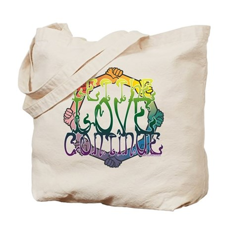 Let the Love Continue Tote Bag