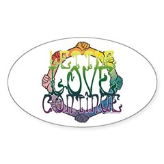 Let the Love Continue Oval Sticker