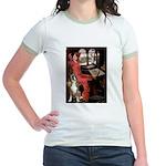 Lady & Boxer Jr. Ringer T-Shirt
