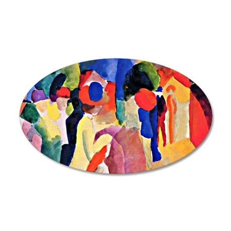 August Macke - Woman with a  35x21 Oval Wall Decal