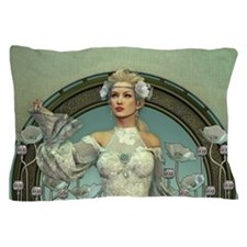 Art Nouveau White Lady Pillow Case