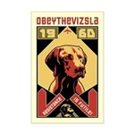 Obey the Vizsla! 1960 Mini Poster Print