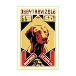 Obey the Vizsla! 1960 Mini Poster Print