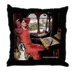 Lady & Boxer Throw Pillow