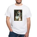 Ophelia & Boxer White T-Shirt